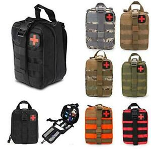 Tactical EMT Medical First Emergency Aid Kit Outdoor Survival Molle Rip-Away Bag