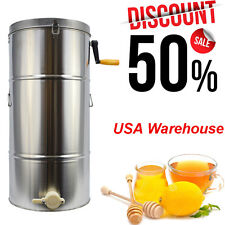 Honey Extractor Beekeeping Equipment Bee Frame Stainless Steel Large Drum New