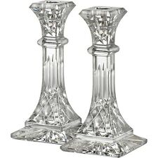 "Pair of Waterford Crystal Lismore 8"" Candle Holders Candlesticks *New in Box*"