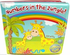 Numbers in the Jungle Baby Bath Book Bathtime Waterproof Floating Educational!