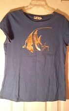 Guy Harvey Original Women's Graphic T-Shirt, Angel Fish, Sz: L, EUC