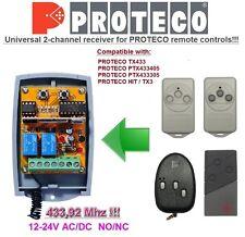 Proteco TX433, PTX433405, HIT/TX3 compatible universelle 2-canaux Récepteur