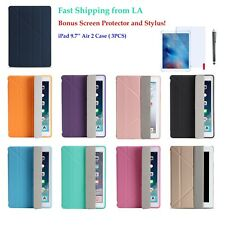 iPad Air 2 Case 9.7 Model Slim Magnetic Silicone Smart Cover  (A1566 A1567)