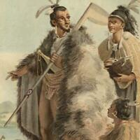 New Zealand Pacific island natives 1836 beautiful ethnic costume print