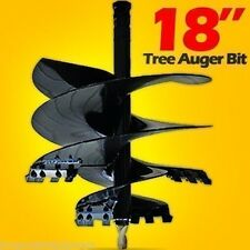 "Tree Auger Bit 18"" Fits All Skid Steer Augers w/ 2"" Hex Drive, 30 Day Delivery"