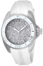 Invicta Angel 22702 Women's Round Analog Date Silver Tone White Silicone Watch