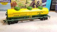 HO Athearn John Deere Tractors advertising 40' tank car train Moline Illinois