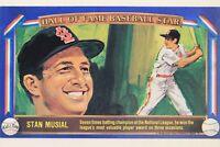 Stan Musial Cardinals (d.2013) 1982 Davco Card Hall of Fame Baseball Stars X