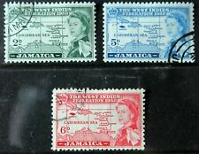 Jamaica – 1958 – Federation Set (3) – Super Used (R6)