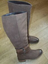 NEW FAITH  Leather Knee High Boots in Brown Size UK 5