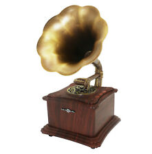 Micro SD USB Vintage Retro Classic Phonograph Gramophone Speaker Bluetooth 4.2
