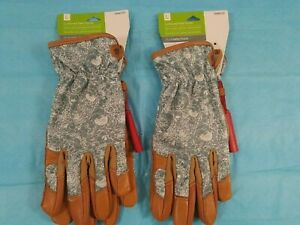 Style Selections 495722 Womens Large Leather Garden Gloves-Lot of 2