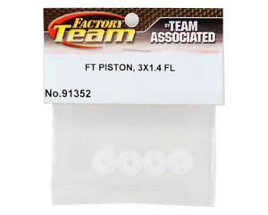 Team Associated ASC91352 FT V1 12mm Big Bore 3 x 1.4mm Flat Shock Pistons