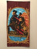 Vintage Novelty Fabric Panel General Washington Crossing the Delaware  (f)