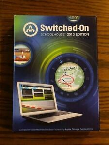 Switched On Schoolhouse 2013 Edition 9th Grade Install Disc + World Geo and Eng