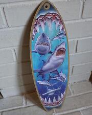 Custom Surfboard Shark Bite Sign ENSA1002089 Beware Of Sharks Sign