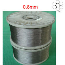 """1/32"""" 0.8mm 1x7 Stainless Steel Cable Wire Rope -100feet"""