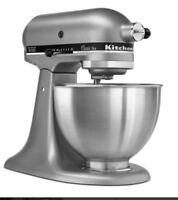 KitchenAid KSM75SL Classic plus Silver 4.5 Qt-Tilt Head Stand Mixer