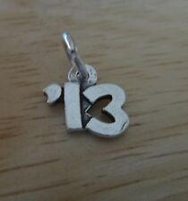 Sterling Silver 10mm '13 School Graduation Anniversary Birth Year for 2013 Charm