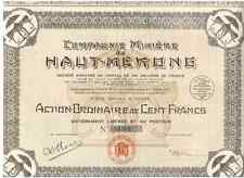 Compagnie Miniere du Haut-Mekong  1923   DEKO