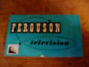 Ferguson  Television advertising brochure