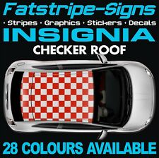 VAUXHALL INSIGNIA CHECKER ROOF GRAPHICS STICKERS STRIPES DECALS VXR OPEL TURBO