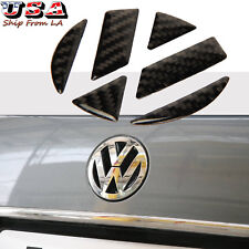 Carbon Fiber VOLKSWAGEN Rear Logo Decoration Sticker For golf 6/GTI/R20/CC