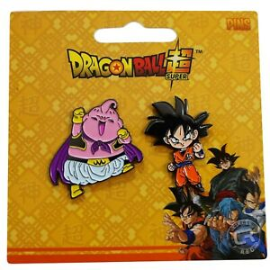 Dragon Ball Super Z Goku & Majin Buu Metal Pins Set of 2 Official Licensed Legit