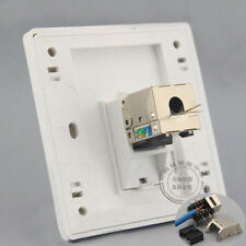 Wall Socket Plate One Ports Gigabit Network Shield CAT6 LAN Socket