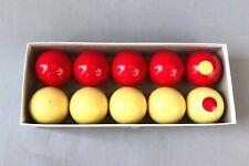 "vintage box of 10 Snooker Aramith 2 1/8"" pool tournament balls made in Belgium"