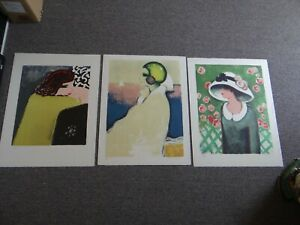 """(3) JEAN-PIERRE CASSIGNEUL Limited Edition 26""""x20"""" Lithographs Signed & Numbered"""
