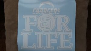 San Diego Chargers For Life car decal