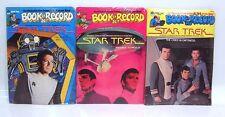 1979 Lot 3 Book & Record Sets STAR TREK Factory Sealed- FREE S&H (J-6091)