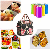 LOKASS Insulated Food Lunch Bag Tote Thermal Lunch Box Thermos Cooler Bag Adult