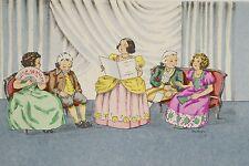 La Cantatrice, Récital dans le goût du XVIII°, Pochoir vers 1930/40 signé Maryse