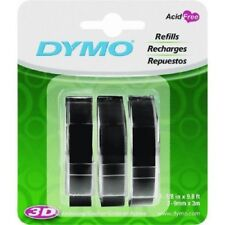 DYMO 3D Plastic Embossing Labels for Embossing Label Makers Pack of 3 Refills