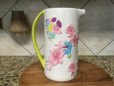 """Avon Pitcher - """"Full Bloom"""" Design with Hand Painted Flowers / Handle"""