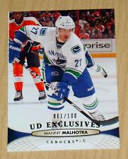 11-12 2012 Upper Deck series 2 S2 UD Exclusives GOLD Manny Malhotra #273 /100
