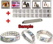 Shih Tzu Dog Photo Mega Stainless Steel Italian Charms Bracelet + Tool HG45