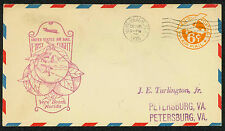 1935 FIRST FLIGHT AIR MAIL - VERO BEACH, FL TO PETERSBURG, VA - UC3 (ESP#1640)