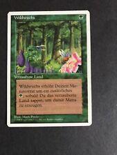 1995 Magic The Gathering MTG 4th Edition German Wild Growth C G (Steelfox7)