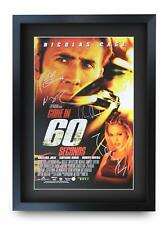 Gone In 60 Seconds Signed Pre Printed Autograph Poster For a Nicolas Cage Fan