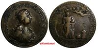 GREAT BRITAIN 1761 CORONATION MEDAL OF CHARLOTTE 34mm By Lorenz Natter.(14441)