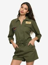CAPTAIN MARVEL CARGO ROMPER HER UNIVERSE ARMY GREEN JUMPSUIT COSPLAY FLIGHT SUIT