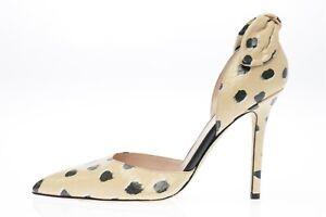 KATE SPADE beige leaoprd print leather pointy toe pumps sz. 7.5 B NEW! $325