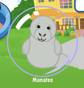Webkinz Manatee Virtual PET Adoption Code Only Messaged Webkinz Retired Manatee!