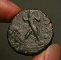 K12-37   Kushan, Kanishka, AE Tetradrachm, Vado (Wind-God) with billowing cloak