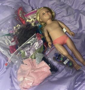 My Life 18 Inch Doll Lot Of Clothes OG Pajamas Jackets Skirt Shirts Leotard