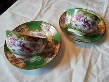 Paire Tasses À Thé Minton English Porcelain 4863