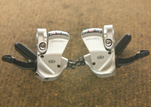 Vintage Shimano Deore XT / SL-M750 9 speed brakes levers shifters brifters set